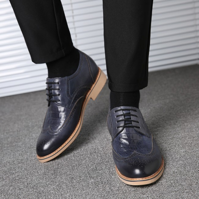Blue Premium Business Height Shoes